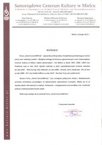 Referencja dla Astrala od miasta Mielec