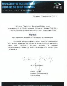 Referencje od Pike dla Astrala